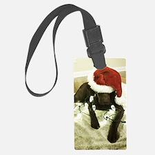 Chrocolate Lab Christmas 3 Luggage Tag