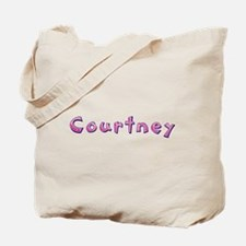 Courtney Pink Giraffe Tote Bag