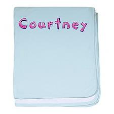 Courtney Pink Giraffe baby blanket