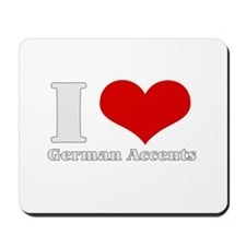 i love heart germna accents Mousepad
