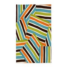 Retro Cool Chopped Stripes 3'x5' Area Rug