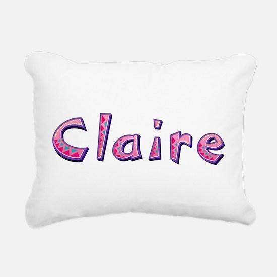 Claire Pink Giraffe Rectangular Canvas Pillow