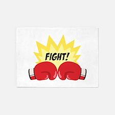Fight! 5'x7'Area Rug