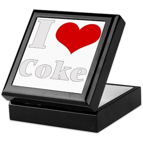 i love (heart) coke Keepsake Box