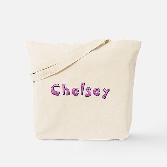 Chelsey Pink Giraffe Tote Bag