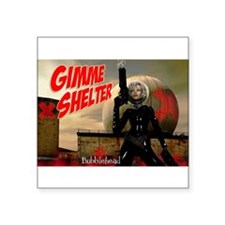 Bubblehead Gimme Shelter Sticker