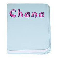 Chana Pink Giraffe baby blanket