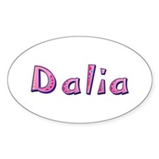 Dalia Pink Giraffe Oval Decal
