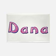 Dana Pink Giraffe Rectangle Magnet