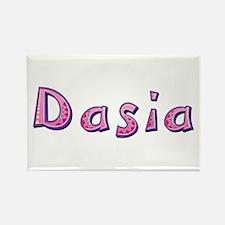 Dasia Pink Giraffe Rectangle Magnet