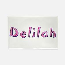 Delilah Pink Giraffe Rectangle Magnet