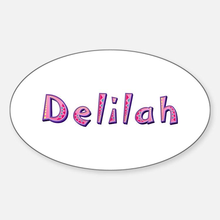 Delilah Pink Giraffe Oval Decal
