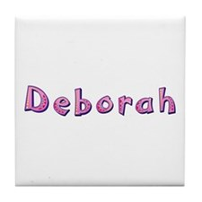 Deborah Pink Giraffe Tile Coaster