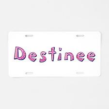 Destinee Pink Giraffe Aluminum License Plate