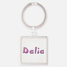 Dalia Pink Giraffe Square Keychain