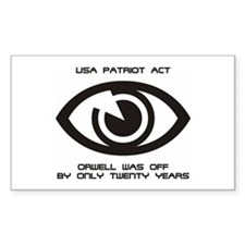 PATRIOT Act - Orwell... Sticker (Rect.)