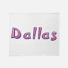 Dallas Pink Giraffe Throw Blanket