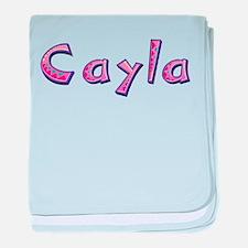 Cayla Pink Giraffe baby blanket