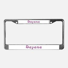 Dayana Pink Giraffe License Plate Frame