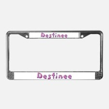 Destinee Pink Giraffe License Plate Frame