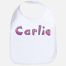 Carlie Pink Giraffe Bib