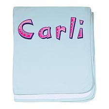 Carli Pink Giraffe baby blanket