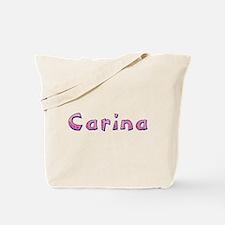 Carina Pink Giraffe Tote Bag