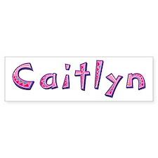 Caitlyn Pink Giraffe Bumper Bumper Sticker
