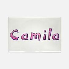 Camila Pink Giraffe Rectangle Magnet