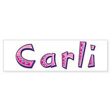 Carli Pink Giraffe Bumper Bumper Sticker