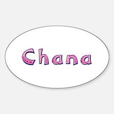 Chana Pink Giraffe Oval Decal