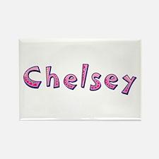Chelsey Pink Giraffe Rectangle Magnet