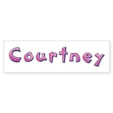Courtney Pink Giraffe Bumper Bumper Sticker