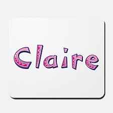Claire Pink Giraffe Mousepad