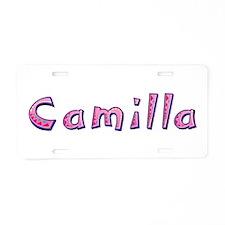 Camilla Pink Giraffe Aluminum License Plate