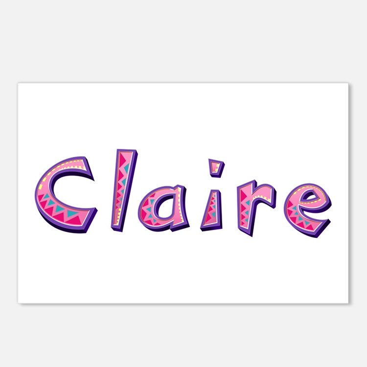 Claire Pink Giraffe Postcards 8 Pack