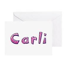 Carli Pink Giraffe Greeting Card