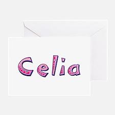Celia Pink Giraffe Greeting Card
