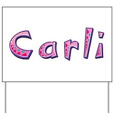 Carli Pink Giraffe Yard Sign
