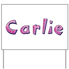 Carlie Pink Giraffe Yard Sign