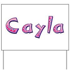Cayla Pink Giraffe Yard Sign