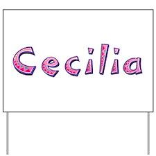 Cecilia Pink Giraffe Yard Sign