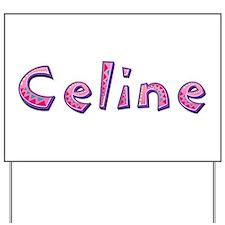 Celine Pink Giraffe Yard Sign