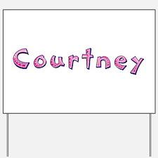 Courtney Pink Giraffe Yard Sign