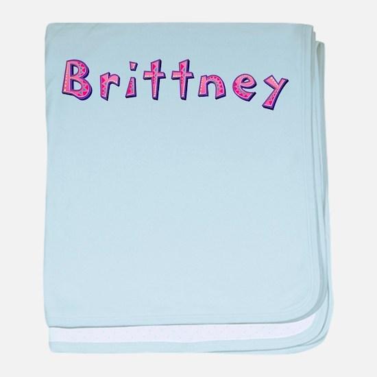 Brittney Pink Giraffe baby blanket