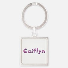 Caitlyn Pink Giraffe Square Keychain