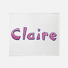 Claire Pink Giraffe Throw Blanket