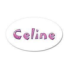 Celine Pink Giraffe Wall Decal