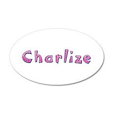 Charlize Pink Giraffe Wall Decal