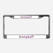 Campbell Pink Giraffe License Plate Frame